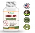 NuBrain – Enhance Cerebral Circulation, Boost Brain Health, Support Brain Functions, Enhance Concentration and Focus, Improve Memory, Sleep Aid, Enhance Cognitive Function – For Men and Women – 60 Veggie Capsules