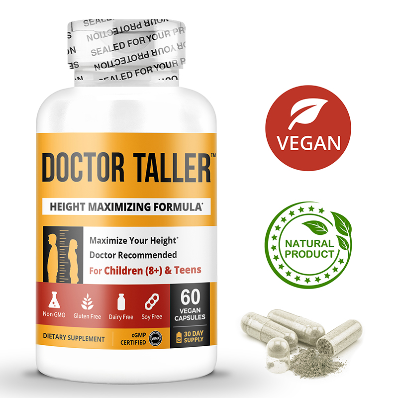 Doctor Taller, 60 Vegan Capsules, Innovative Height Increase Boost, For Children (8+) and Teenagers, Packed With Vitamins, Minerals, Proprietary Herbal Blend & Essential Amino Acids